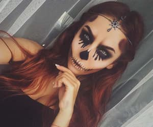 Halloween, halloween costume, and halloween makeup image