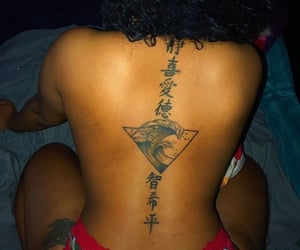 back, skin, and hair image