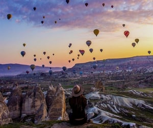 photography, sky, and air baloon image