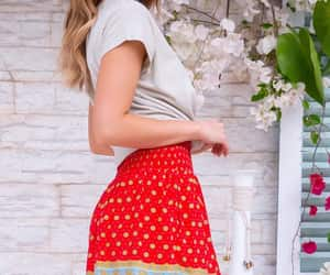 bohemian, redskirt, and summer image
