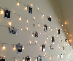 polaroid, decorations, and lights image