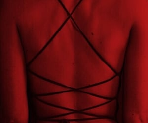 red, aesthetic, and back image