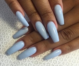 beauty, nails, and blue image