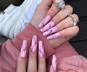 accessories, long nails, and rings image