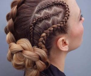 belleza, braids, and hair image