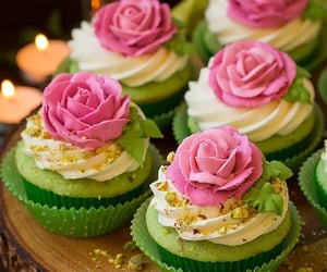 cupcakes, cake, and food image