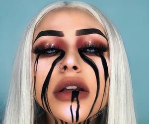 makeup, Halloween, and billie eilish image