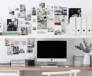 bedroom, desk, and ideas image