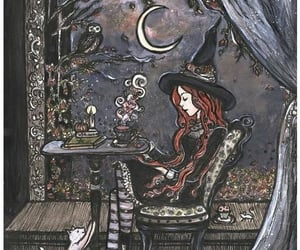 witch, drawing, and fantasy image