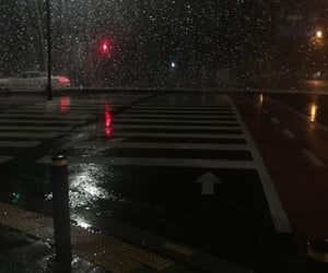 rain, aesthetic, and night image