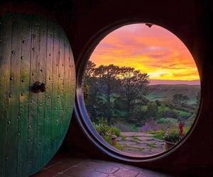 nature, door, and hobbit image