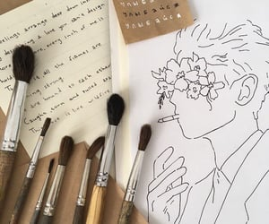 art, ink, and writing image