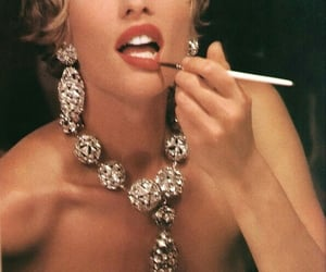 vintage, jewelry, and makeup image