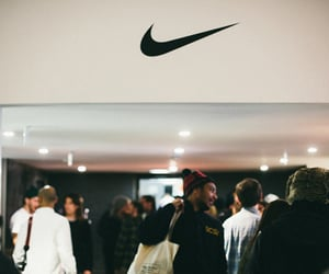 nike, store, and people image