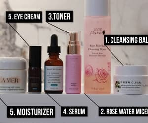 acne, skin care, and rose image