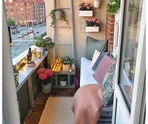 apartment, balcony, and cozy image