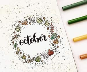 october, planner, and bujo image