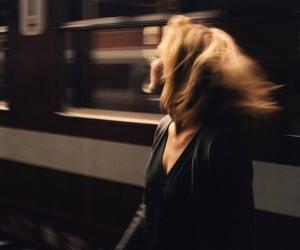 girl, train, and grunge image