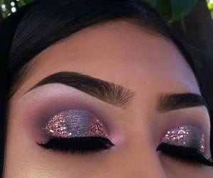 beauty, glitter, and make up image