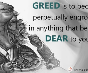 business, spirituality, and greedy image