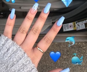 blue, diamond, and style image