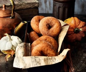 autumn, donuts, and dessert image