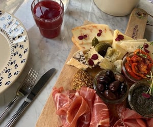 food, drink, and cheese image
