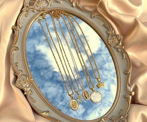 gold, mirror, and sky image