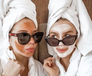 face mask, finland, and girl image