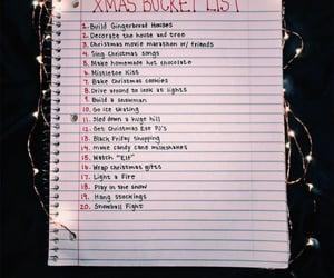 bucket list, christmas bucket list, and bucket list ideas image