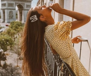 long hair, nails, and paris image