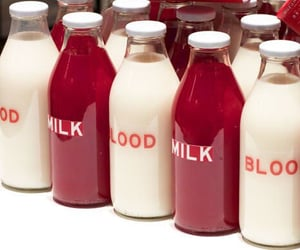 aesthetic, red, and milk image