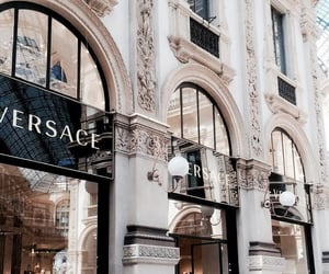Versace, building, and architecture image