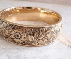 costume jewelry, floral flower, and fmco bangle image