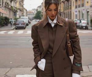 fashion, negin mirsalehi, and brown image