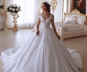 bridal, clothes, and dress image