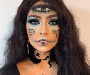 beauty, Halloween, and make up image