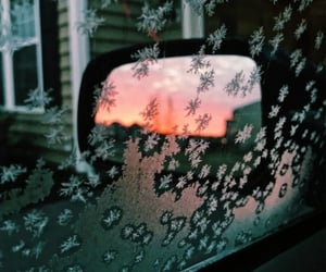 winter, car, and sunrise image