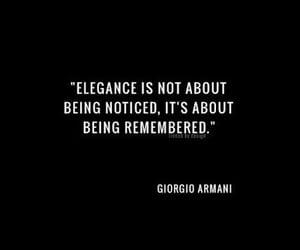 quotes, elegance, and Giorgio Armani image