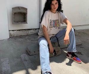 girl, denim, and fashion image