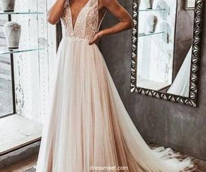 wedding dresses, lace wedding dress, and tulle wedding dress image