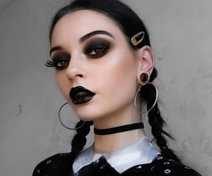 Halloween and wednesday addams image