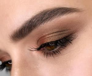 brown, gold, and makeup image