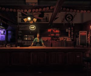 bar, bartender, and red image