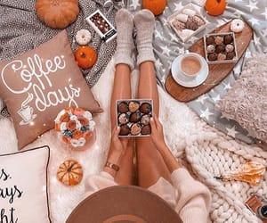 autumn, girl, and cozy image