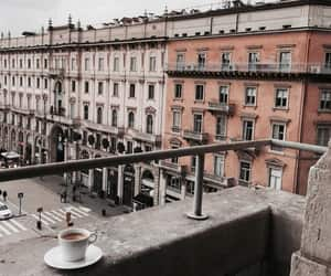 city, architecture, and coffee image