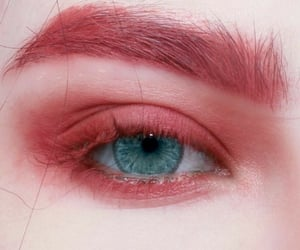 makeup, pink, and blue eyes image