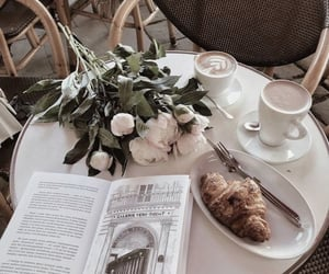 coffee, flowers, and cafe image