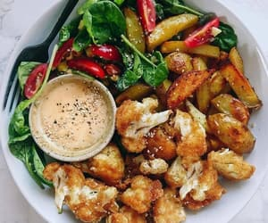 Chicken, drinks, and food image