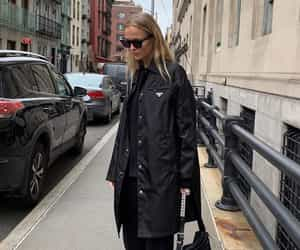black, chic, and coat image